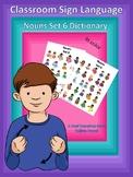 ASL Classroom Dictionary Set 6-Nouns
