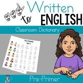 ASL Classroom Dictionary Set One