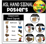 ASL Classroom Hand Signal Posters
