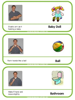 Bathroom In Sign Language asl (american sign language) classroom labels, volume 1 | tpt
