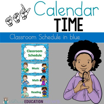 ASL Classroom Schedule in Blue Color