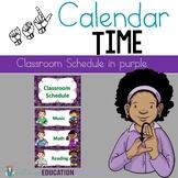 ASL Classroom Schedule in Purple Color