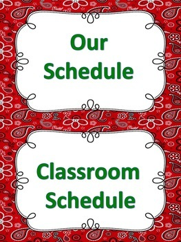 ASL Classroom Schedule in Red Color