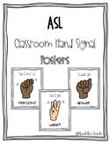 ASL Classroom Signal Posters