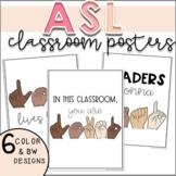 ASL Classroom Signs | Decor