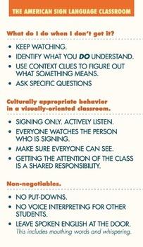 ASL Classroom Standards