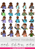 ASL Clip Art For Commercial Use - 60 General Vocabulary Pa