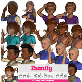 ASL Clip Art For Commercial Use -Family Signs Pack 1 Reali