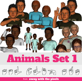 ASL Clip Art For Commercial Use -Animals Signs Pack 1 Real