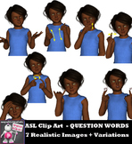 ASL Clip Art For Commercial Use - Question Word Signs Pack Realistic Clip Art
