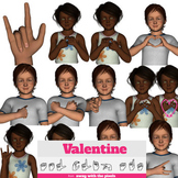 ASL Clip Art For Commercial Use - Valentine's Day Signs Re