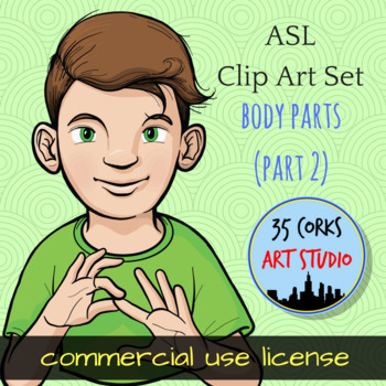 ASL Clip Art Set - Body Parts (Part 2) - Commercial Use License