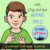 ASL Clip Art Set - Body Parts (Part 2) - Commercial Use License