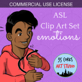 ASL Clip Art Set - Emotions and States of Being (Commercial License)