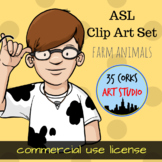 ASL Clip Art Set - Farm Animals - Commercial Use License
