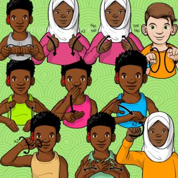 ASL Clip Art Set - Grab Bag #1 (Commercial Use License)