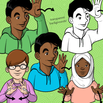 ASL Clip Art Set - Grab Bag #1 (Personal Use License)