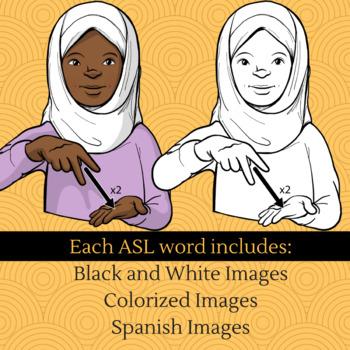 ASL Clip Art Set - Grab Bag #2 (Commercial Use License)