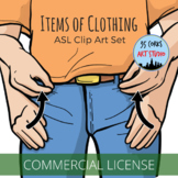 ASL Clip Art Set - Items of Clothing (Commercial Use License)
