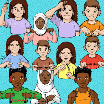 ASL Clip Art Set - Items of Clothing (Personal Use License)