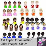 ASL Clipart for GIF Animations Colors American Sign Language