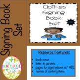 ASL Clothes Signing Book Set