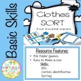 ASL Clothes Sort File Folder Games