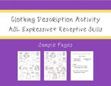 ASL Clothing Description Activity