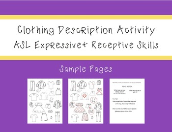 ASL Clothing Description Activity