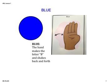 ASL Color Lesson