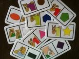 ASL Color / Shape dominoe mini cards