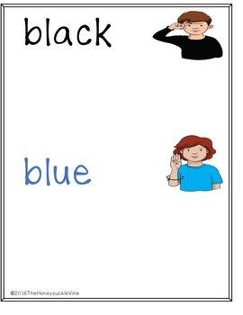 ASL Color Sort Activity Mats