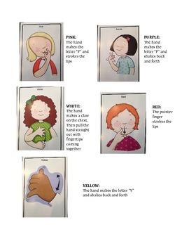 ASL Color Worksheet