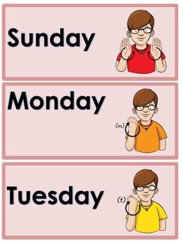 ASL Communication Board and Word Wall- Calendar