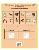 "ASL ""Counting 1 - 100"" (Numbers, Words and Images) for Deaf or Hard of Hearing"
