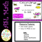 ASL Counting Bees Match-Up File Folder Game