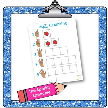 ASL Counting: Handout & Interactive Book