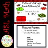 ASL Counting Ladybugs Match-Up File Folder Games