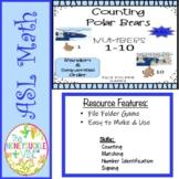 ASL Counting Polar Bears Match-Up File Folder Games