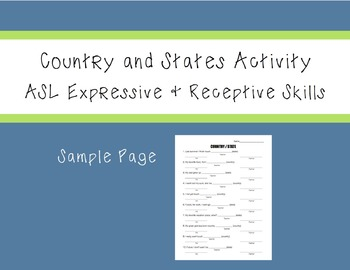 ASL Country & States Activity