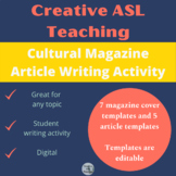 ASL Cultural Magazine Cover and Article Templates