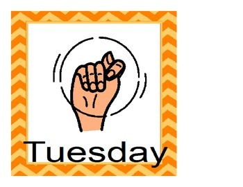ASL Days of the Week- Calendar