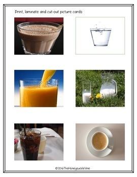 ASL Desserts and Drinks Food Sort File Folder Game