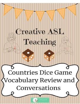 ASL Dice Game Countries - American Sign Langauge Clipart