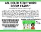 ASL Dolch Sight Word Clip Cards - 1st Grade Level