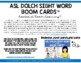 ASL Dolch Sight Word Clip Cards - Primer Level