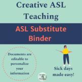 ASL Editable Substitute Binder - Editable Forms
