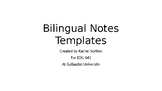 ASL/English Bilingual Notes Templates