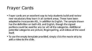 ASL/English Bilingual Notes Templates