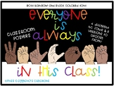 Diversity / LGBTQ+/ ASL Everyone is always Welcome Signs